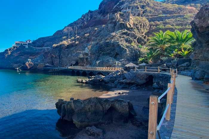 Playa de Tamaduste en la isla de El Hierro