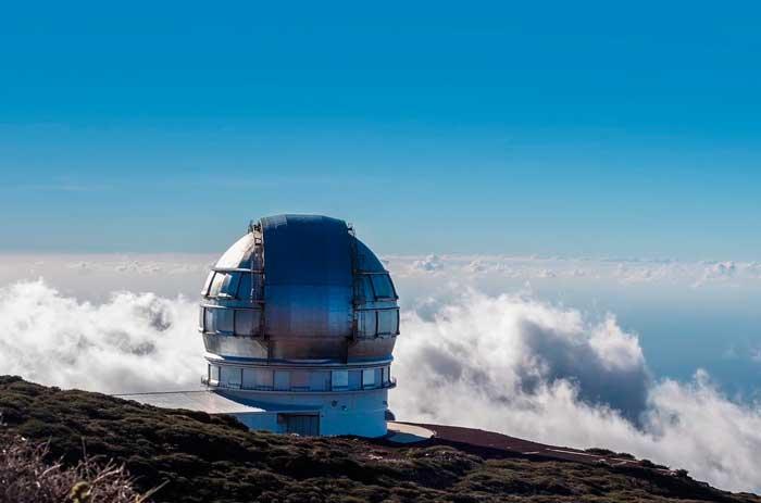 Telescopio del Observatorio Astronomico del Roque de los Muchachos en La Palma