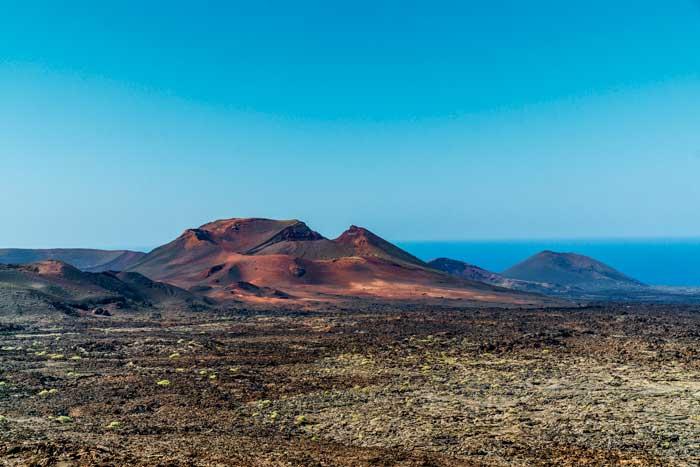 Volcán del Fuego del Parque Nacional de Timanfaya en Lanzarote