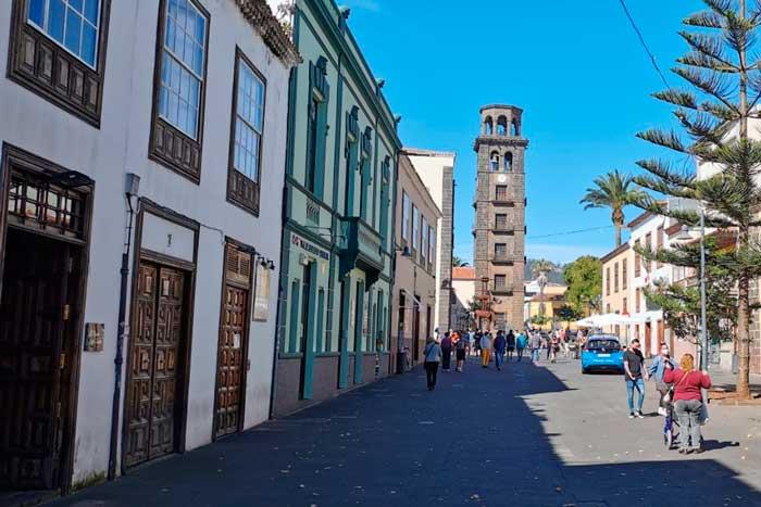 Torre de la Concepción en La Laguna en el norte de Tenerife