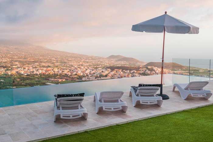 Villa con piscina donde alojarse en La Palma