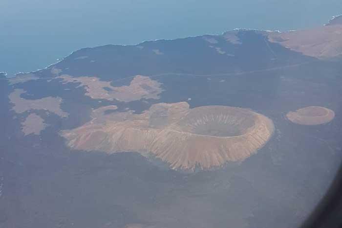 Volcán de Caldera Blanca y Caldereta en Lanzarote