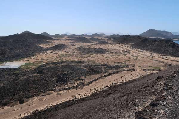Volcanes de la Isla de Lobos en Fuerteventura